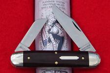 Great Eastern Cutlery #35 Tidioute Churchill Knife - Maroon Linen Micarta - USA