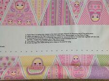 Print fabric(Russian Dolls Bunting panel)