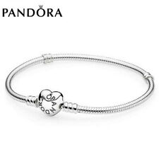 Genuine Pandora Stirling Silver Moments Bracelet WITH BRANDED BOX Charm Bracelet