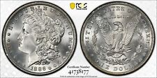 1886 $1 Morgan Dollar Certified PCGS MS67 Us Mint Silver Coin