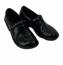 BOC Born Concept Peggy Black Paisley Tooled Clog Mule Shoes SZ 6.5 M