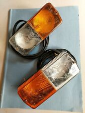 Massey ferguson  side and flasher  tractor lights with bulbs and four foot cable