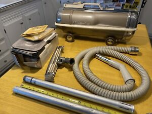 Vintage Electrolux Model G Canister Vacuum W/ Hose & Bags ~ Tested & Works Good