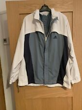 Retro Adidas Mens XL White And Grey Windbreaker