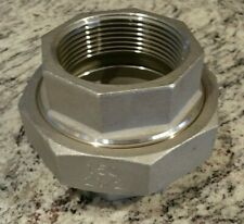 """316 SS 2-1/2"""" F NPT Union Stainless Pipe Fitting Coyote Gear 150#"""