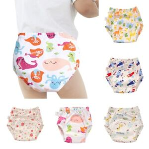 Baby Nappies Cotton Washable Diaper Pants Toddler Waterproof Training Pants