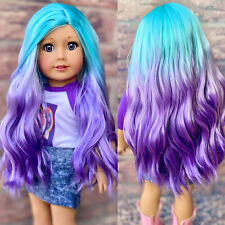 "American Girl Doll Custom Rainbow OOAK Wig - Ultra Soft ""Tidal Crush"""