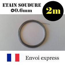 2m de Fil Etain pour soudure -avec flux - 60% étain (électronique, fer à souder)
