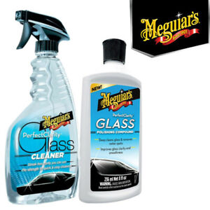 Meguiars - Perfect Clarity Glass Cleaner & Polishing Compound Set - G8216 G8408
