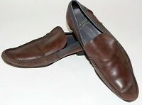 TED BAKER Mens Dark Brown Leather Loafers, slip On Shoes Size UK 10 EU 44 US 11