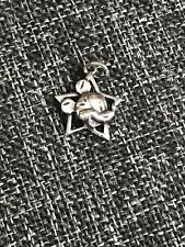 MICKEY MOUSE STERLING SILVER STAR CHARM