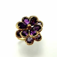 Ring Amethyst 14k Yellow Gold Vintage & Antique Jewellery