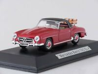 Scale model car 1:43 Mercedes-Benz 190 SL (W121) с багажником, 1955 (red/black)