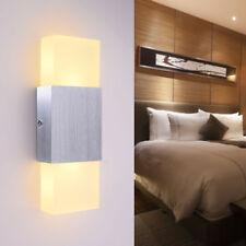 6W Led Wandlampe warmweiß wandleuchte up down transparent Kristall Wandlampe DE