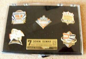 Denver Broncos John ELWAY Hall of Fame 5 pin set limited edition pins