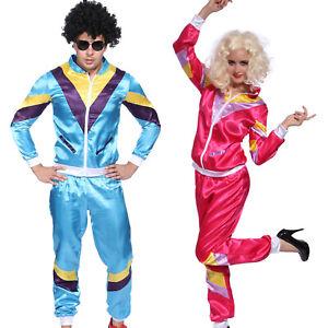 80er Jahre Herren Damen Fasching Karneval Retro 80s Jogginganzug Trainingsanzug
