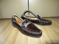 Womens Vintage RUSSELL&BROMLEY R&B Brown Patent Leather Shoes Flats EU 40 / UK 7