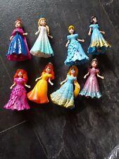 Bundle of 8 Mini  Disney Princess Magiclip Dolls  New