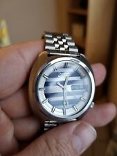 Steel Quartz Day date Vintage Bulova Accutron Watch Stainless