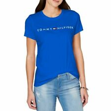 TOMMY HILFIGER SPORT NEW Women's Crew-neck Graphic Casual Shirt Top TEDO