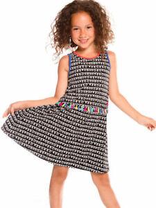 Deux Par Deux NWT Sleeveless Dress Cotton Jersey Black & White Sizes 5-10