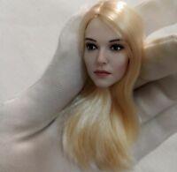 "1/6 Blond hair Head Sculpt Ashley Benson Head Model For 12"" Phicen action figure"