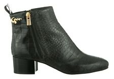 MORI MADE IN ITALY ANKLE HEELS BOOTS STIEFEL STIVALI KROCO LEATHER BLACK NERO 43