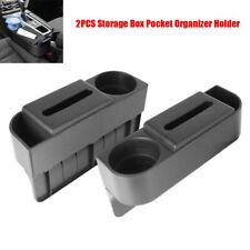1Pair Car Catcher Storage Box Seat Organizer w/Tissue Box + Cup Holder Universal