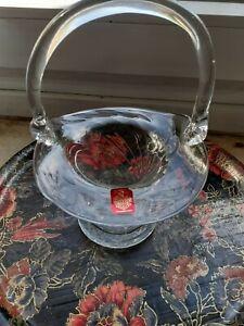 Vase Körbchen aus Glas mundgeblasen Freiherr von Poschinger