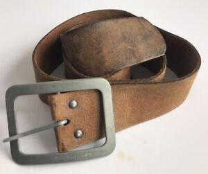 Mens Vintage Jack & Jones Brown SUEDE Belt Retro 32 34