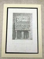 1857 Antik Aufdruck Italienische Architektur St.Simon Grab Kirche Crypt Groß