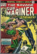 """SUB-MARINER #68 MARVEL 01/74 vs FORCE """"ON THE BRINK OF MADNESS!"""" DON HECK ART VF"""