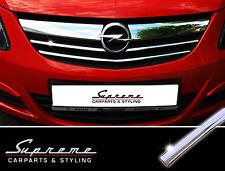 OPEL CORSA D 06-11 CROMO BARRE decorative 3m TUNING per griglia anteriore sopra