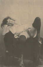 AK Erotik Frau Nackt Akt Nude Lesbian Züchtigung Vintage 20iger (HH57)
