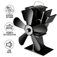 FT- 5Blade Fireplace Heat Powered Stove Fan Silent Winter Wood Log Burning Stove