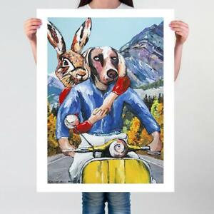 GILLIE AND MARC | Giclee Print Ltd Ed | Direct from Artists | On the road again