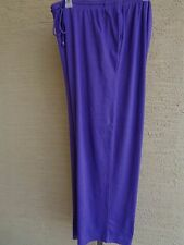 Woman Within Cotton Blend Jersey Sport Elastic Waist Pants 1X  22-24W Grape
