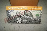 2013 $2 Single Note Collection Two Dollar Federal Reserve Bank of SAN FRANCISCO