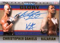 TNA Chris Daniels & Kazarian 2013 GLORY GOLD Dual Autograph Card SN 61 of 99