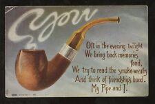 SMOKING 1909 PPC...PIPE...USA PROVIDENCE RHODE ISLAND