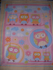 Brand New Owl Cot Quilt Panel