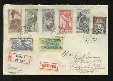 CZECHOSLOVAKIA 1957 NICE 8 COLOUR MULTIFRANKING to SWISS...EXPRESS DELIVERY
