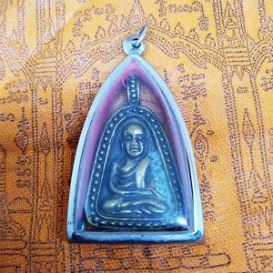 PHRA LP Ngern Wat Bangklan Pim Job Yai Version 1 Thai Buddha Amulet Pendant,Rare