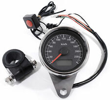 LCD Mini Tachimetro elettronico nero 60mm per HD Harley Davidson 1995 - 2017