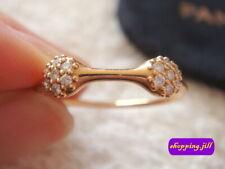 Pandora 2 Love Pod Diamond 750 ALE Rose Gold Ring 18ct size 57 970108RD Retired