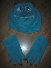 Monsters Inc SULLEY SULLY Plush BOYS HAT AND GLOVES Halloween Costume HEADGEAR