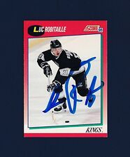 Luc Robitaille signed Los Angeles Kings 1991 Score hockey card