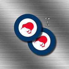 """2x 4"""" Royal New Zealand Air Force Roundel Die CutSticker Decal RNZAF Kiwi NZL NZ"""