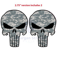 "Two (2) Army ACU Punisher 2.75"" Phone Yeti Decal Sticker"
