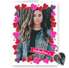 Personalised Photo Happy Valentines Day A5 Card With Free Heart Keyring